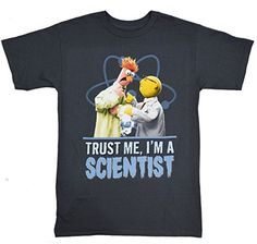 Disney The Muppets Trust Me Im A Scientist Beaker Tshirt Small Charcoal ** Visit the image link more details.