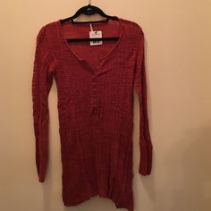NWT Free People Cayenne Shirt The material on this shirt is so nice and the color is very unique! Size Small. Let me know if you have any further questions! Free People Tops