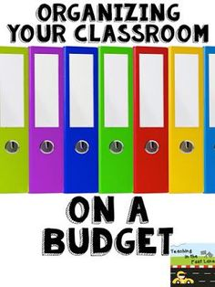 An organized classroom makes it easier to have a focused day, and doing it on a budget is easily attainable!