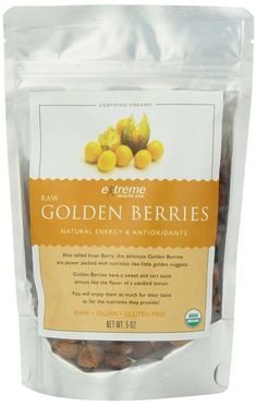 Extreme Health USA Organic Raw, Sundried Golden Berries, 5-Oz Pouch >>> Huge discounts available at : Fresh Groceries