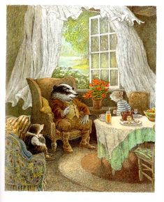 ANNIE AND AUNT: Vacation reading - The Wind in the Willows - Inga Moore - One of my very favorite illustrations.