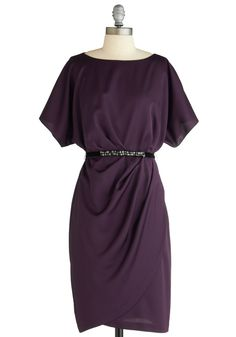 eggplant colored dress-gorgeous! @ Cottonpopsock