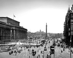 St. George's Hall and Lime Street, Liverpool, 1900s