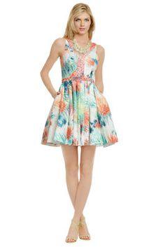 Christian Cota Coral Sea Urchin Dress