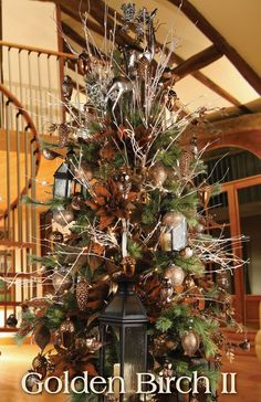 >> Melrose Designer Christmas Tree 2013: Golden Birch II (Rustic)