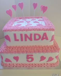 Pink Hearts #pink #hearts #tiered #pretty #cake #dlish Birthday Cake Girls, Birthday Cakes, Pink Hearts, Girl Cakes, Toy Chest, Pretty, Desserts, Food, Meal