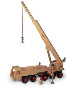 Fagus wooden mobile crane - Honeybee Toys