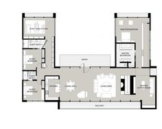 U-Shaped House Plans With Courtyard