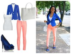 "What's On Me- Blazer: Charlotte Russe  Jeans: Cello Jeans  Shoes & Bag: ""Moxie"" & ""Iredell"" from Shoedazzle.com"