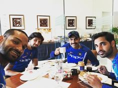 Enjoying breakfast before the game..looking forward for another good day..