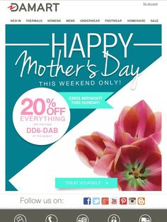 A TREAT not to miss this Mother's Day! - Damart UK