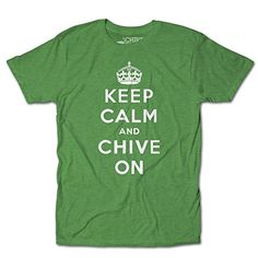 CHIVE TEES Mens Official Keep Calm and Chive On T-Shirt XX-Large Kelly Green