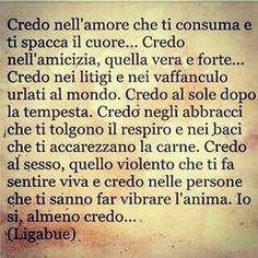 Credo (Ligabue) The Words, Italian Language, Carne, Notes, Dreams, Film, Sweet, Pictures, Frases