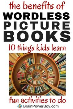 Wordless picture books are wonderful. That goes without saying. Find out why they are so great and 10 things kids can learn by using them. BONUS: Wordless Picture Book Activities! Click image to read more. Wordless Picture Books, Wordless Book, Children's Picture Books, Visual Literacy, Early Literacy, Fun Activities To Do, Literacy Activities, Literacy Skills, Language Activities
