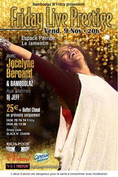 JOCELYNE BEROARD AND BAMBOOLAZ (972)    See the article here : http://www.black-in.com/sorties-loisirs/evenement/taina/a-ne-pas-rater-jocelyne-beroard-et-bamboolaz/