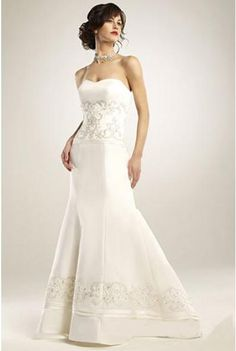 Affordable Sexy Trumpet/Mermaid Sweetheart Satin Wedding Dress On Sale Hot Sale