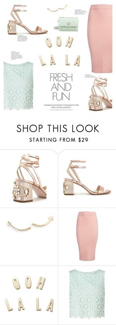 """""""Magic Slippers: Embellished Shoes"""" by tesoro-mia ❤ liked on Polyvore featuring Miss Selfridge, Vita Fede, Sans Souci, Kate Spade and Chanel"""
