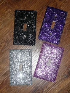 GLITTER & SPARKLE everywhere for your little girl and your princess room!!! Diva PINK or Purple or Black or SILVER or White! by ExpressionsofFaith.etsy.com, $5.49