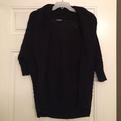 Black Knit Express sweater shrug size S Black knit short sleeve sweater shrug from Express size S Express Sweaters Shrugs & Ponchos