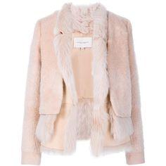 Carolina Herrera fur lining jacket ($6,670) ❤ liked on Polyvore featuring outerwear, jackets, white, carolina herrera, fur lined jacket, carolina herrera jacket and white jacket