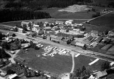 Hedmark fylke Løten kommune sentrum 1949 Utg Widerøe