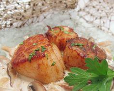 Pan Seared Alaska Weathervan Scallops with Marsala Mushroom Sauce