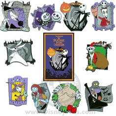 Your WDW Store - Disney Mystery Pin & Card - Nightmare Before Christmas - 10 Pin Set