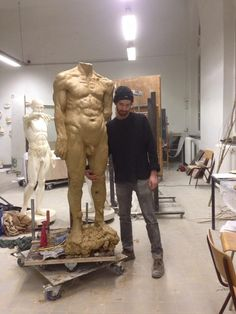 Clay sculpture WIP Henry Washer