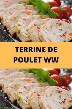 We offer you the recipe for ww chicken terrine, a delicious light, tasty terrine, easy to make and ideal to serve as a starter or as a main dish. This recipe of chicken and vegetable terrine is easy a Cheap Chicken Recipes, Easy Crockpot Chicken, Easy Healthy Recipes, Easy Dinner Recipes, Easy Meals, Crock Pot Recipes, Casserole Recipes, Chicken Terrine, Plats Weight Watchers