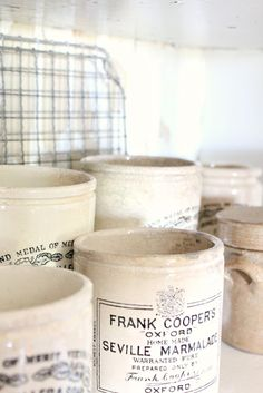 vintage pots...