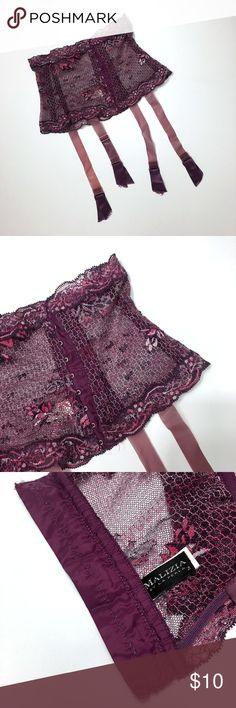 Malizia by La Perla stretch lace garter belt sz 2 Malizia by La Perla stretch lace garter belt sz 2 Made in: Italy Size: 2 Waist: 21 stretch Height: 7 Materials: poliammide, elasthane, polyester Colors: purple Condition: new without tags #CoxyCloset #lingerie #garterbelt #malizia #laperla #lace #sexy #nwot La Perla Intimates & Sleepwear