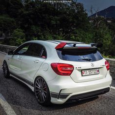 Classe A Amg, Mercedes A45 Amg, Bmw Girl, Custom Muscle Cars, Lux Cars, Dream Cars, Super Cars, Automobile, Vinyls