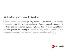 Opinia Dystrybutora marki Steadtler #migomedia