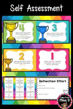 Self Assessment Effort Formative Assessment, Self Assessment, Teaching Materials, Teaching Resources, Miss D, Rainbow Writing, Feedback For Students, Success Criteria, Class Management