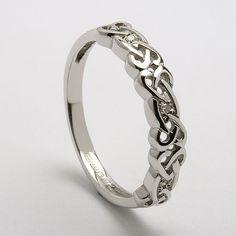 Sibeal Ladies Celtic Diamond Ring (C-756) - Celtic Wedding Rings