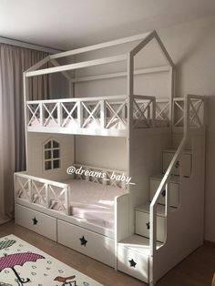 Kids Bedroom Designs, Bunk Bed Designs, Kids Room Design, Bed For Girls Room, Girl Room, Baby Room Decor, Bedroom Decor, Kids Bunk Beds, Delaware