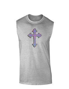 TooLoud Easter Color Cross Muscle Shirt