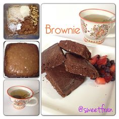 "558 Me gusta, 113 comentarios - Francisca 🌱 (@sweetfran) en Instagram: ""Brownie! Alguna vez ya les subi una receta de brownie al sarten, pero hoy los comi y no puede…"" Sweet Recipes, Snack Recipes, Dessert Recipes, Snacks, Healthy Grains, Sweet Bakery, Bread Machine Recipes, Low Calorie Recipes, Cookie Desserts"