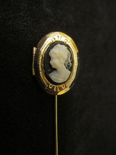 SALE Cameo locket Hat Pin Stick Pin by memorees on Etsy, $7.00