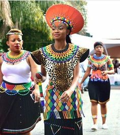 Zulu bride #traditionalafricanfashion