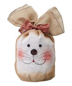 Look at this #zulilyfind! Short Burlap Bunny Bag #zulilyfinds
