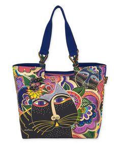 Indigo Cats Laurel Burch Bag Mini Bag Xx Tote Purse 11 By 3 By 8-inch