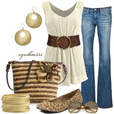 Spring Neutrals, created by cynthia335 on Polyvore... Absolutely LOVE this shirt