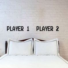 His and Hers Player 1 and Player 2 Bedroom Decor by 1622 on Etsy, $9.99