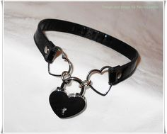 Heart Padlocked PVC/ Vinyl Vegan Leather Kawaii by NecroLeather, $38.00