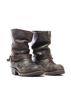 Blackbird Vintage - 70's Steel Toe Engineer Boots in Black  - Svpply