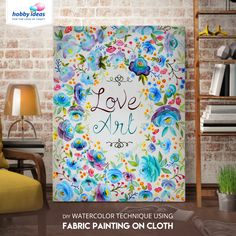 From Hobbyideasin What Better Way To Express Your Love For Art Than By Painting A