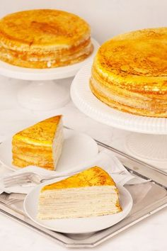 Caramelized crepes with cream? Yes please! The Mille Crêpe Cake is as delicious as it is elegant.