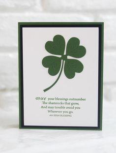 Irish Blessing Shamrock Greeting Card, St. Patrick's Day Card