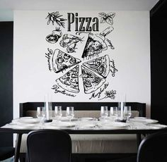 kik1024 Wall Decal Sticker pizza ingredients Pizzeria Italian Restaurant